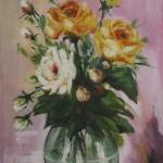 Trandafirii pe fond liliachiu
