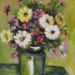 flori in vas verde